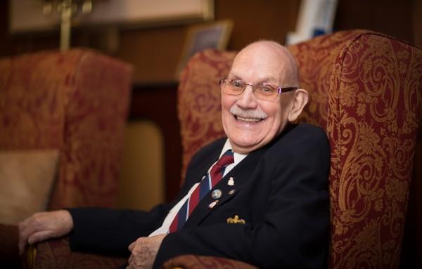 RAFA Ron Hopwood aged 91 a resident at Rothbury House 25AUG17