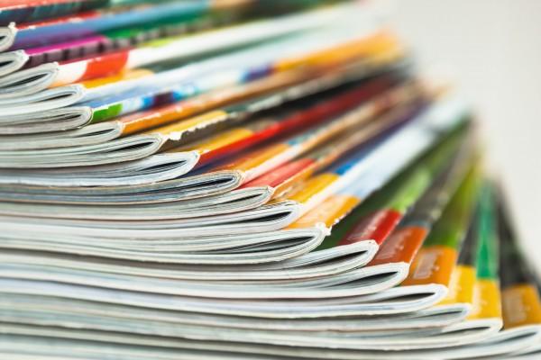 aufgefächerte Fachzeitschriften